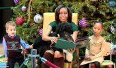 Câinele Bo a citit povești cu Michelle Obama