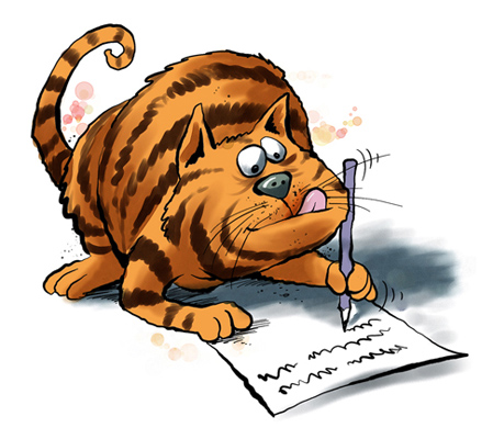 Cat Writing Essay