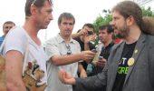 """Solcanu, Remus Cernea, iubitorii de animale si pensionarii: protest """"a la Constanţa"""" în faţa ecarisajului din oraş"""
