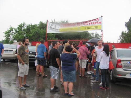 Protest in fata biobazei Constanta