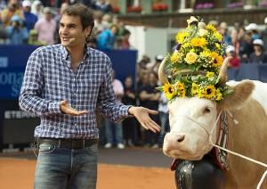 Roger Federer a primit cadou o vacă