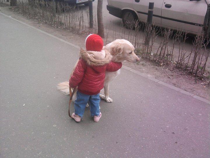 Plimbarile cu Rolly sunt preferatele ei!