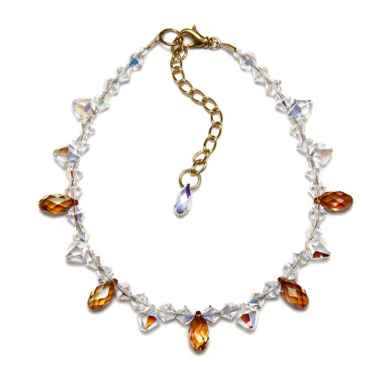 amber_teardrop_pet_necklace