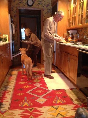 Aici sunt in vizita la noii mei bunici. In SUA!