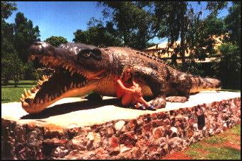 Unde s-au descoperit urme de crocodil gigant