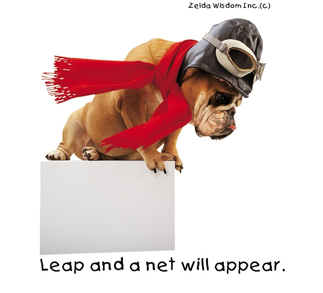 Leap...and a net will appear.(Blank inside)