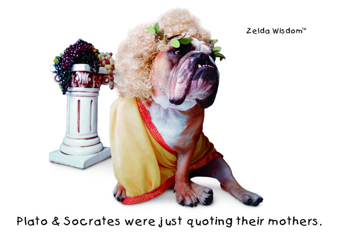 Plato and Socrates were just quoting their mothers.(Blank inside)