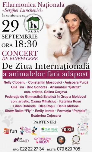 Concert de binefacere pentru animalele fara adapost