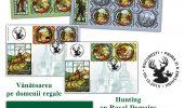 Vanatoarea pe domenii regale, in timbre