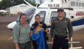 MOBILIZARE: In timpul inundatiilor din Australia, cainii au fost salvati de crocodili, cu elicopterele!