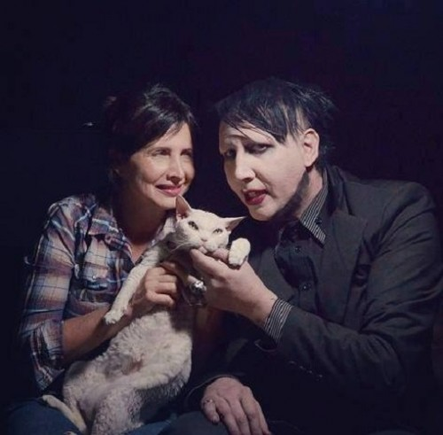 Marilyn Manson and his lovely cat, Lily White