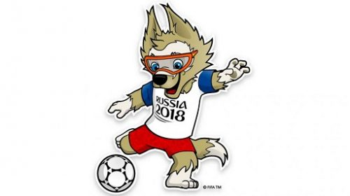 Un lup – mascota Cupei Mondiale de fotbal 2018
