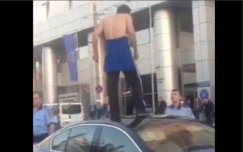 Un câine din Bucureşti, implicat în scene incredibile, în care poliţiştii au fost umiliţi – Video