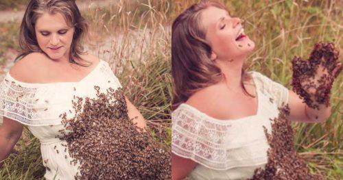 IMAGINILE care au ISTERIZAT omenirea! Uite cum s-a fotografiat o femeie pentru albumul de gravidă